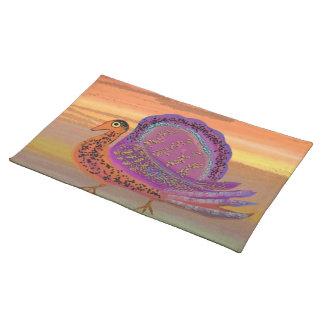 Die Türkei-Sonnenaufgang-Gewohnheits-Tischsets Stofftischset