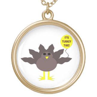 Die Türkei-Zeit-Erntedank-Halskette Vergoldete Kette