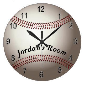 Die Uhr-Baseball der Kinder Große Wanduhr