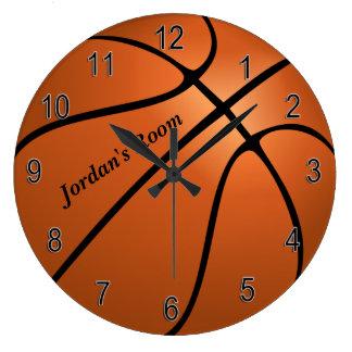 Die Uhr-Basketball der Kinder Große Wanduhr