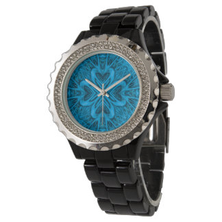 Die Uhr der Blues-Kaleidoskop-Vintage Frauen