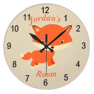 Die Uhr-niedlicher BabyFox der Kinder Große Wanduhr