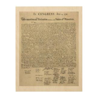 Die Unabhängigkeitserklärung Dokument Holzdrucke