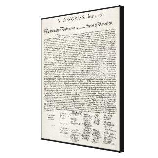 Die Unabhängigkeitserklärung Gespannter Galerie Druck