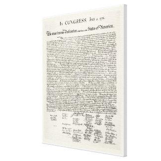 Die Unabhängigkeitserklärung Leinwanddruck
