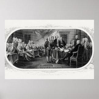Die Unabhängigkeitserklärung unterzeichnen - Poster