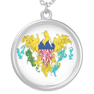 Die US-Jungferninseln-Gnarly Flagge Halskette Mit Rundem Anhänger