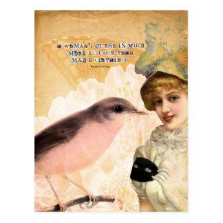 Die Vermutung einer Frau Postkarte