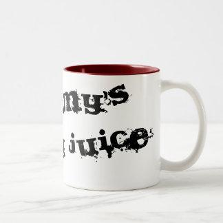 Die Vernunfts-Saft-Tasse der Mama Zweifarbige Tasse