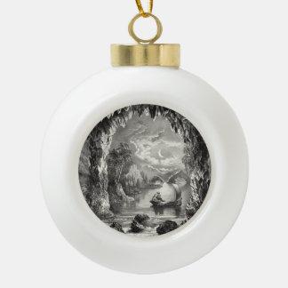Die verzauberte Höhle Keramik Kugel-Ornament