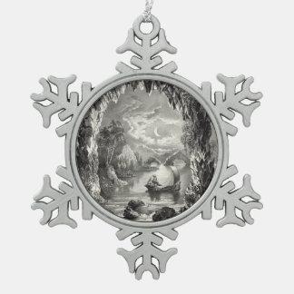 Die verzauberte Höhle Schneeflocken Zinn-Ornament