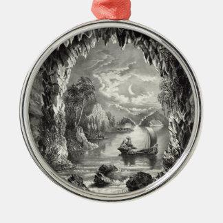 Die verzauberte Höhle Silbernes Ornament