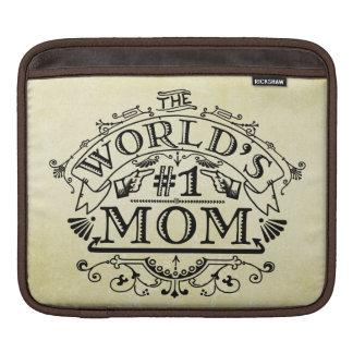 Die Vintage Mamma der Welt der Zahl-eine blühen iPad Sleeve