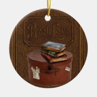 Die Vintage Verzierung des Buch-Liebhabers Keramik Ornament