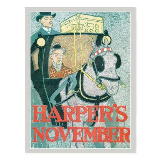 Die Vintage Zeitschrift November Kunst nouveau Postkarte