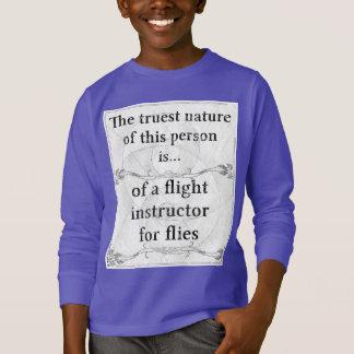 Die wahrste Natur: Fluglehrer fliegt Insekten T-Shirt