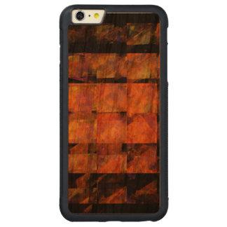 Die Wand-abstrakte Kunst Carved® Cherry iPhone 6 Plus Bumper Hülle