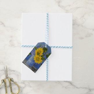Die Wedding Sonnenblumen danken Ihnen Geschenkanhänger