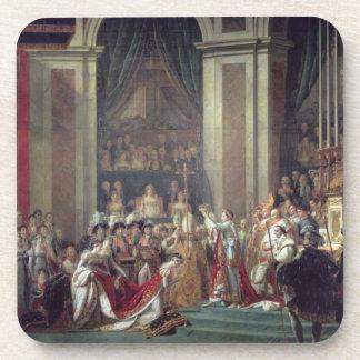 Die Weihe des Kaisers Napoleon Getränke Untersetzer