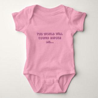 Die Welt kauert vor mir… Baby Strampler