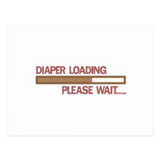 Die Windel, die bitte lädt, warten…. Postkarten