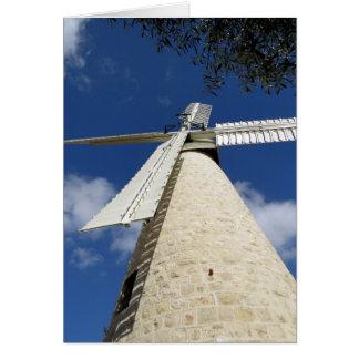 Die Windmühle von Mishkenot Sha'ananim Karte