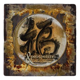 DIE WOHLSTANDS-VERBINDUNG: Kunst des chinesischen Töpfeuntersetzer