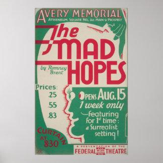 Die wütenden Hoffnungen durch Vintages Plakat