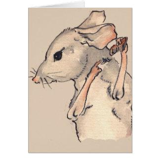 Diese kleine Maus Mitteilungskarte