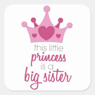 Diese kleine Prinzessin ist die große Schwester Quadratischer Aufkleber
