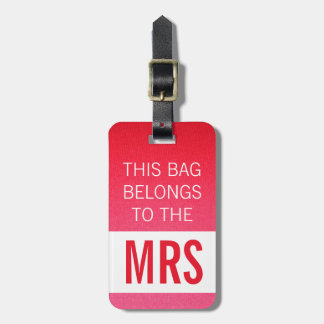 Diese Tasche gehört Frau Pink Koffer Anhänger