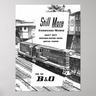 Diesellokomotiven 1957 Fairbanks Morse Poster