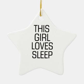 Dieser Mädchen-Liebeschlaf Keramik Stern-Ornament