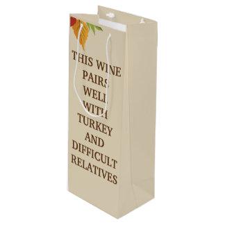Dieser Wein passt gut zusammen Geschenktüte Für Weinflaschen