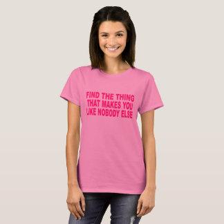 Dieses die Sache-Shirt der Frauen T-Shirt