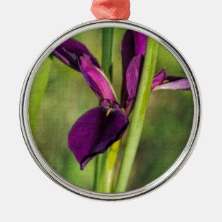 Dieses ist eine Louisiana-Kampfhahn-Wildblume - Rundes Silberfarbenes Ornament