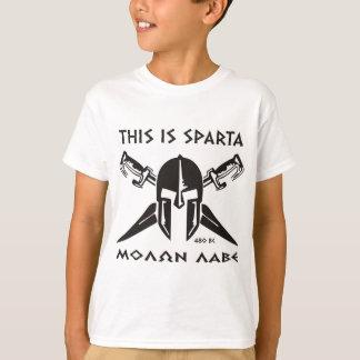 Dieses ist Sparta - Molon lave (Schwarzes) T-Shirt