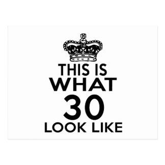 Dieses ist, was Blick 30 mögen Postkarte