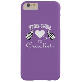 Dieses Mädchen-Lieben zu häkeln Barely There iPhone 6 Plus Hülle