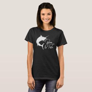 Dieses Mädchen war geboren zu fischen T-Shirt