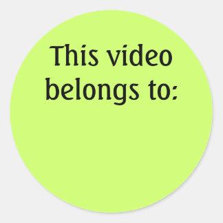 Dieses Video gehört: Runder Aufkleber