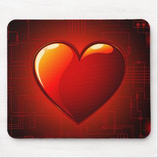 Digital-Herz-Mausunterlage Mauspad