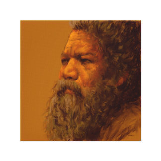 Digital-Malerei eines alten Mannes Leinwanddruck