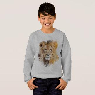 Digital-Malerei eines fotografierten Löwe-Kopfes Sweatshirt
