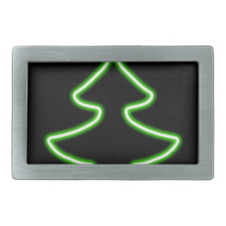 Digital-Weihnachtsbaum Rechteckige Gürtelschnalle