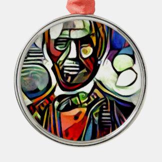 Digitale bunte Malerei Abraham Lincolns Silbernes Ornament