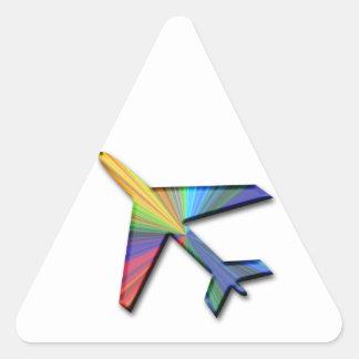 digitales Flugzeug Dreieckige Aufkleber
