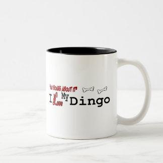 Dingo-Hundegeschenke Zweifarbige Tasse