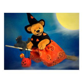 Dinky Bären, die Hexe fliegen Postkarte