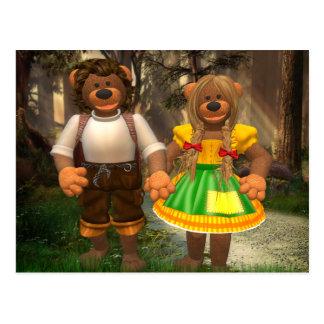Dinky Bären Hansel und Grethel Postkarte